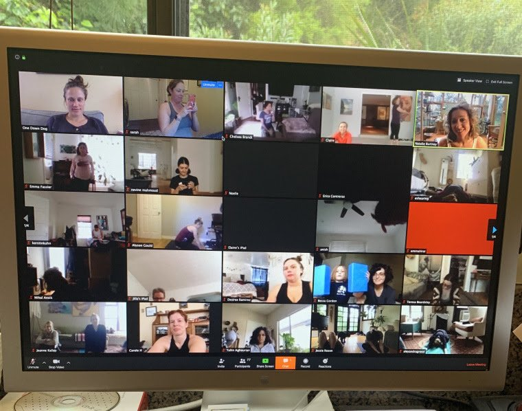 Gallery view on a zoom call